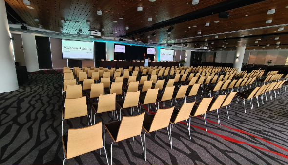 World Cup Lounge | Te Ipu O Te Ao - set theatre style for a conference